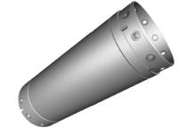 Dvouplášťová 600 mm / 1 metr