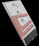 Dláto Rabe s karbidovým plátkem PBR 0350G (levé)