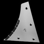 Výměnný díl Kühn - Huard s karbidovým plátkem ETH 0172G (levý)