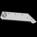 """Ostří Kverneland 18"""" s karbidovým plátkem SBK 3006MD (pravé)"""