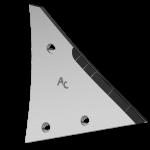 Výměnný díl Kühn - Huard s karbidovým plátkem ETH 0120D (pravý)
