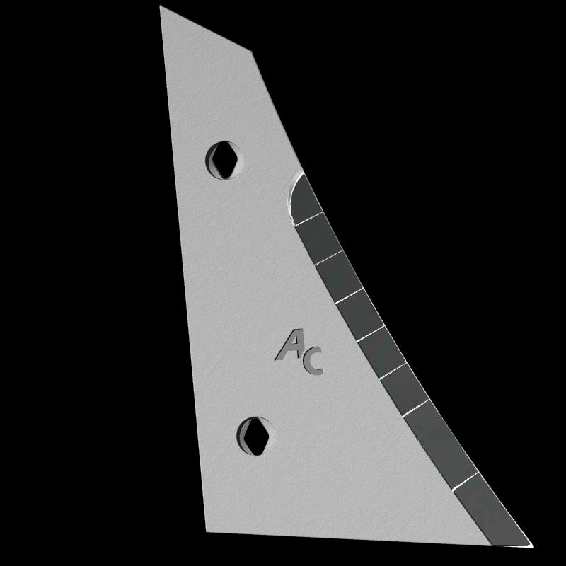 Výměnný díl (trojúhelník) Kverneland s karbidovým plátkem ETK 0250D (pravý)