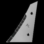 Výměnný díl (trojúhelník) Kverneland s karbidovým plátkem ETK 0250G (levý)