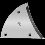 Výměnný díl (trojúhelník) Lemken s karbidovým plátkem ETL 3450D (pravý)