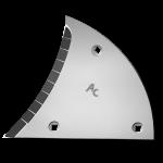 Výměnný díl (trojúhelník) Lemken s karbidovým plátkem ETL 3450G (levý)