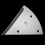Výměnný díl (trojúhelník) Lemken s karbidovým plátkem ETL 3454D (pravý)