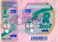Dálniční známka na rok 2019 pro automobil do 3,5 tuny