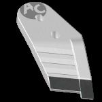 Dláto Kühn - Huard s karbidovým plátkem PBH 2128D (pravé)