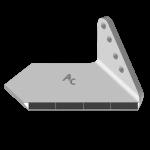 Křídlo Bremer s karbidovým plátkem ADH 0856D (široké, pravé)