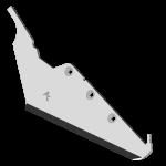 Radlice vyorávače Matrot s plátky karbidu SRM 7282G (levá)