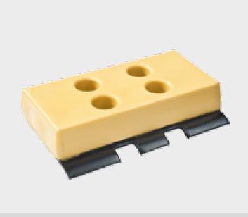 Polyuretanová pojezdová deska BS4/350 mm (sada deska PU+železo+šrouby)